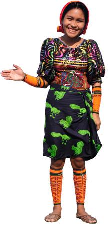 Kuna lady inviting you to Narasgandup Island